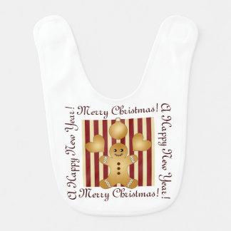Cute Christmas Holiday Cookie Cartoon Personalized Bib