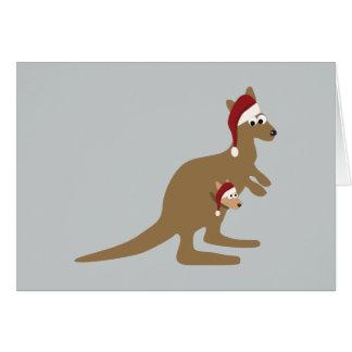 Cute Christmas Kangaroos Cards