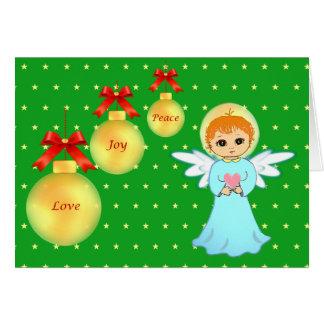 Cute Christmas little angel Card