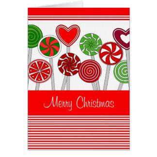 Cute Christmas Lollipops card