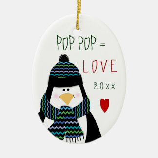 Cute Christmas Love Pop Pop Ornament