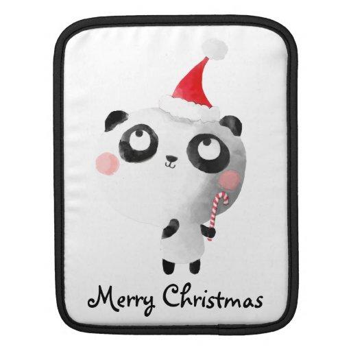 Cute Christmas Panda Bear Sleeves For iPads