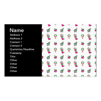 Cute Christmas Pattern Business Cards