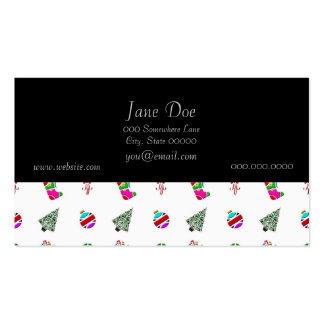 Cute Christmas Pattern Business Card Templates