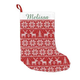 Cute Christmas Pattern Monogram