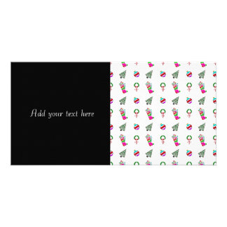 Cute Christmas Pattern Custom Photo Card