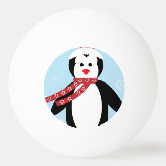 Cute Christmas penguin cartoon Ping Pong Ball