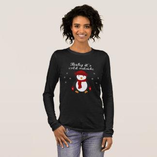 Cute Christmas Penguin Long Sleeve T-Shirt