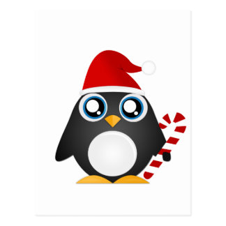 Cute Christmas Penguin Postcard