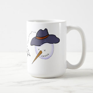 Cute Christmas Primitive Snowman Basic White Mug