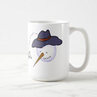 Cute Christmas Primitive Snowman Coffee Mug
