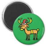 Cute Christmas Reindeer Cartoon Magnet Fridge Magnet