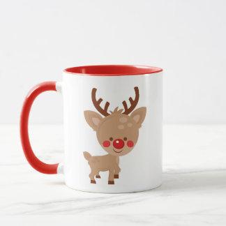 Cute Christmas Reindeer Mug