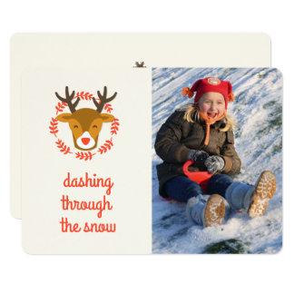 Cute Christmas Reindeer Photo Card