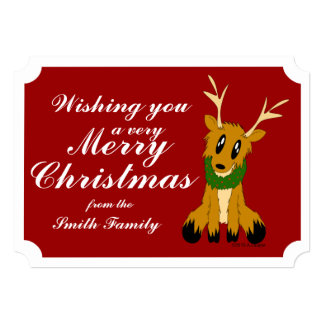 Cute Christmas Reindeer Photo Christmas Card