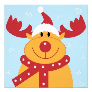 Cute Christmas Reindeer Photographic Print