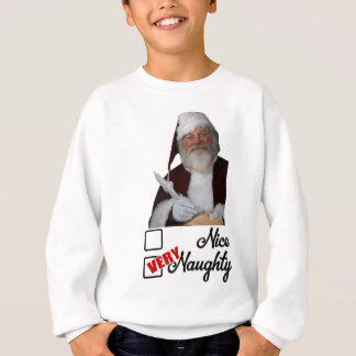 Cute Christmas Saint NIcholas naughty list Sweatshirt