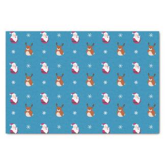 Cute Christmas Santa & Rudolph Tissue Paper