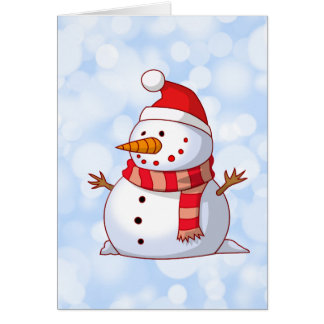 Cute Christmas Snowman Greeting Cards