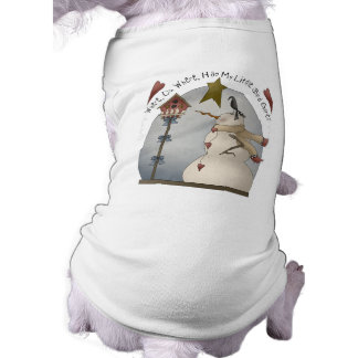 Cute Christmas Snowman Dog Shirt