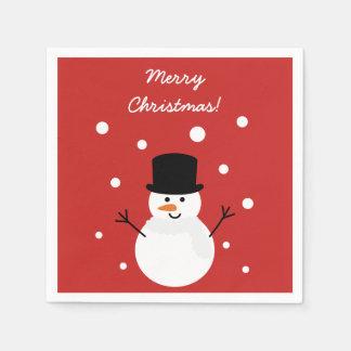 Cute Christmas Snowman Festive Holiday Party Disposable Serviettes