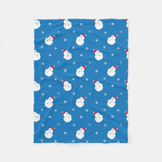 Cute Christmas Snowman Fleece Blanket