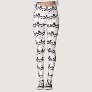 Cute Christmas Snowman Leggings
