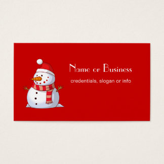 Cute Christmas Snowman Professional Business Card