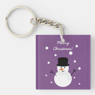 Cute Christmas Snowman Winter Festive Holiday Snow Key Ring