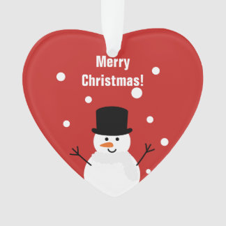 Cute Christmas Snowman Winter Festive Holiday Snow Ornament