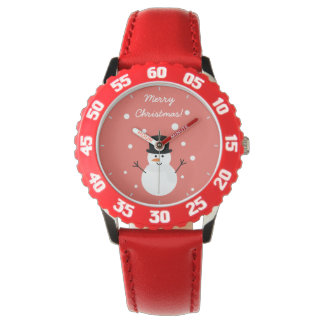 Cute Christmas Snowman Winter Festive Holiday Snow Watch