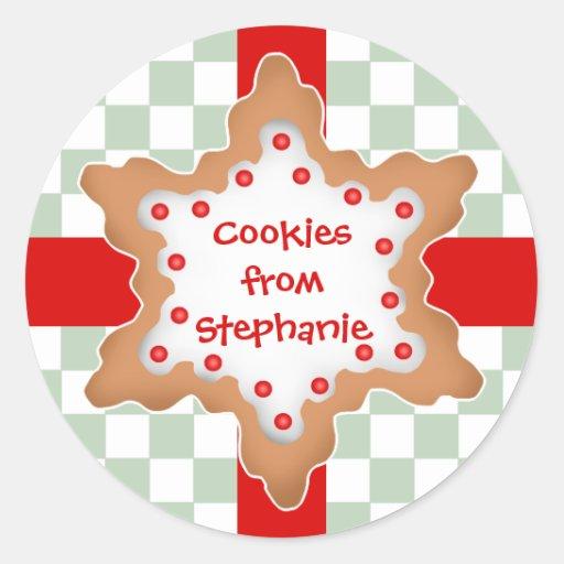 Cute Christmas star cookie Sticker | Zazzle