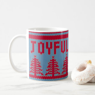 Cute Christmas Sweater Joyful | Mug