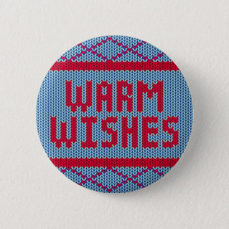 Cute Christmas Sweater Warm Wishes | Button