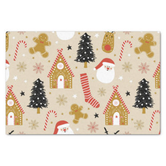 Cute Christmas Symbols Pattern Tissue Paper
