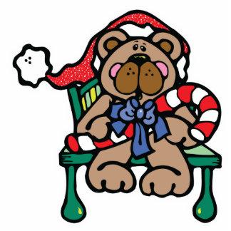 cute christmas teddy bear acrylic cut out