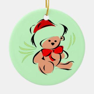 Cute Christmas teddy bear Christmas Tree Ornament