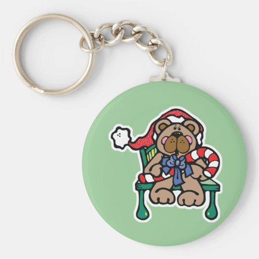cute christmas teddy bear key chain