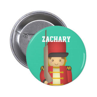 Cute Christmas Toy Soldier Boy in Red 6 Cm Round Badge