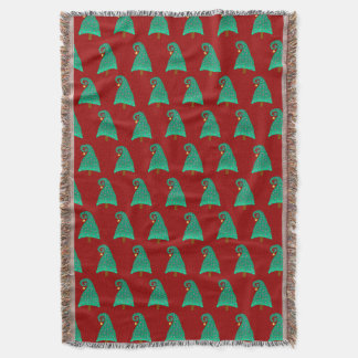 Cute Christmas Tree Pattern On Red