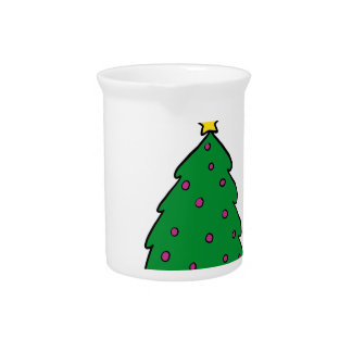 CUTE CHRISTMAS TREE PITCHER