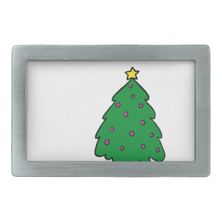 CUTE CHRISTMAS TREE RECTANGULAR BELT BUCKLES