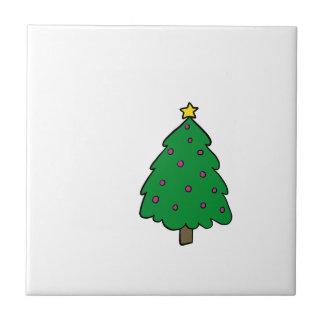 CUTE CHRISTMAS TREE TILE