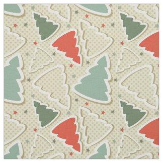 Cute Christmas Trees Fabric