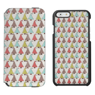 Cute Christmas Trees Pattern Incipio Watson™ iPhone 6 Wallet Case