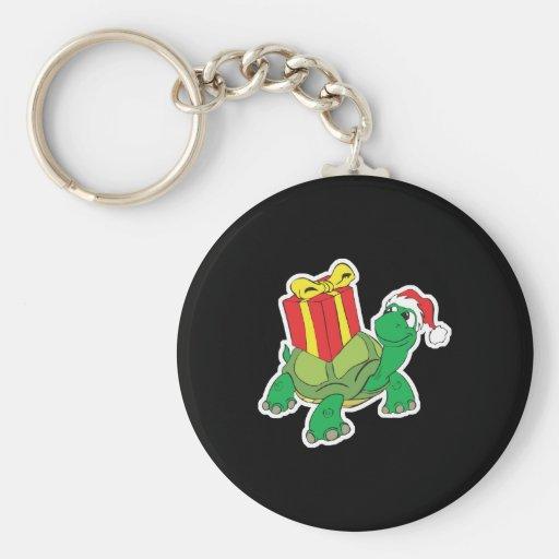 cute christmas turtle keychain