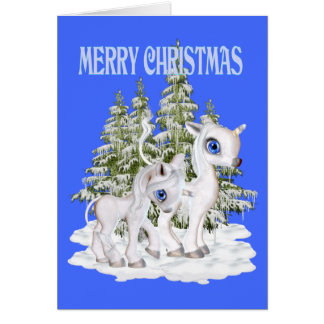 Cute Christmas Unicorns Card