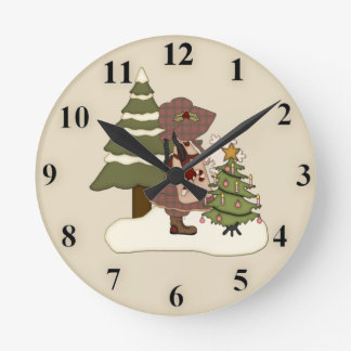 Cute Christmas Wall Clock