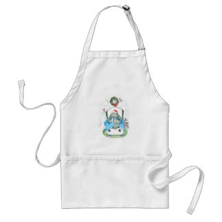 Cute Christmas Walrus Igloo Whimsical Designed Standard Apron