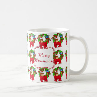 Cute Christmas Wreaths with toys Pattern Coffee Mug